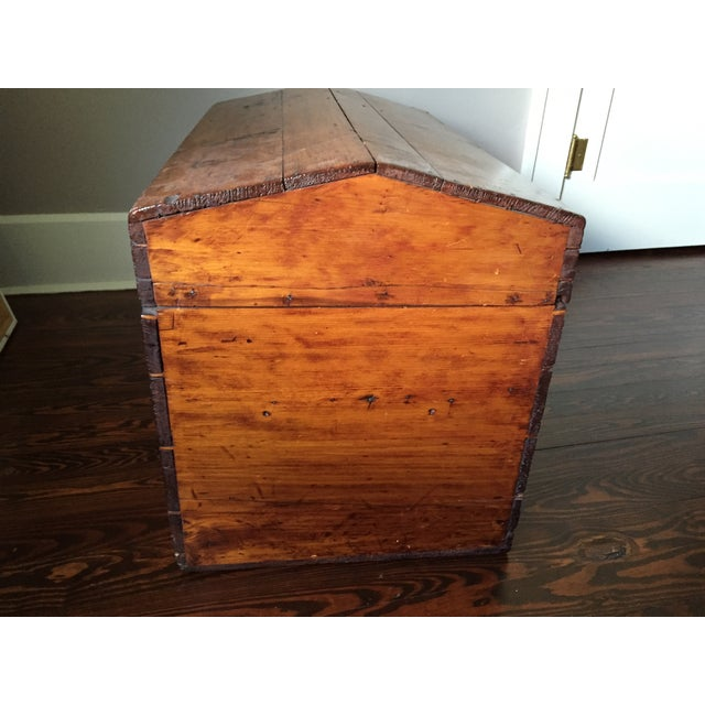 19th-C. Peaked Top Pine Trunk - Image 5 of 6