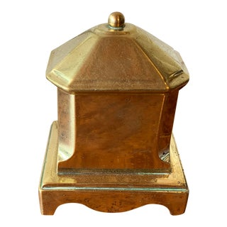 Antique English Small Georgian Brass Tobacco Jar For Sale