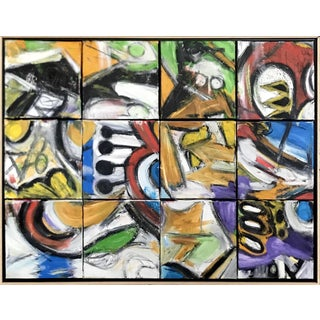 Large Scale Tiled Canvas Abstract Painting