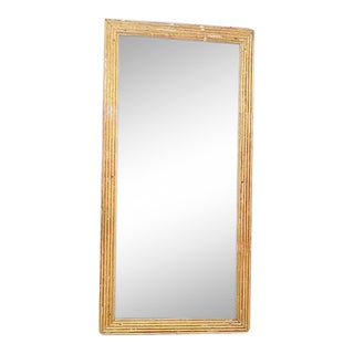 French Fluted Giltwood Mirror For Sale