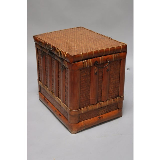 Square Basket, from China. Circa Mid 18th Century.