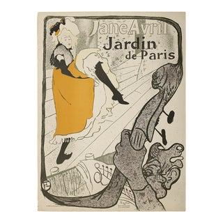 1893 Antique Henri De Toulouse Lautrec Original French Art Nouveau Lithograph Poster For Sale
