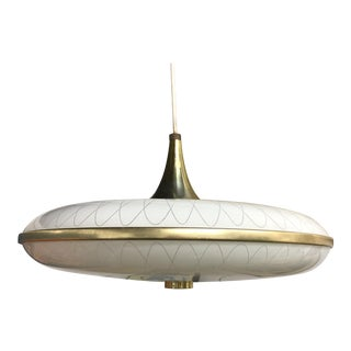 "1950s Mid Century ""Flying Saucer"" Atomic Pendant Chandelier For Sale"