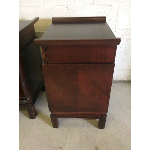Brown Asian Style End Tables - A Pair For Sale - Image 8 of 8