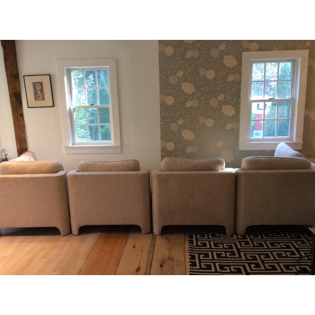 Milo Baughman Style Sectional Couch - Image 8 of 11