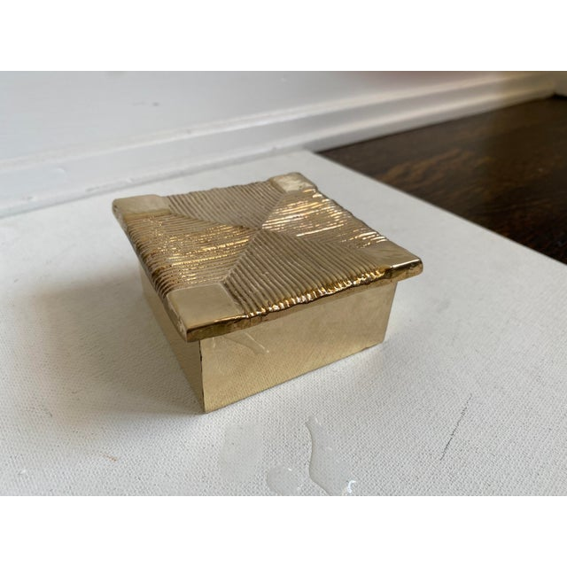 Mid-Century Brutalist Sarreid Brass Box For Sale In Los Angeles - Image 6 of 6