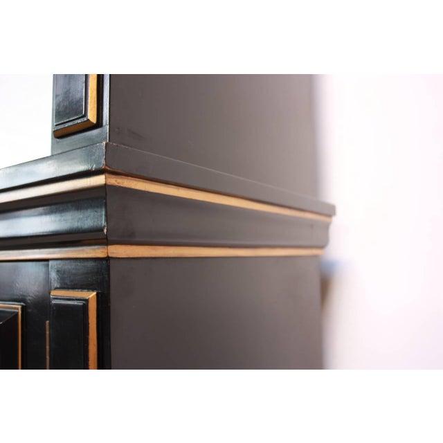 1970s James Mont Style Ebonized Armoire - Image 5 of 8
