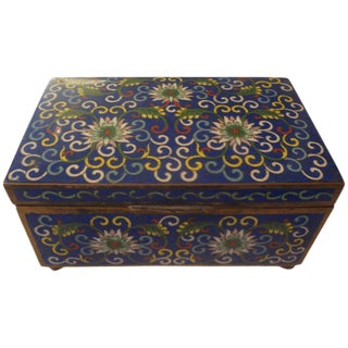 Early 20th Century Antique Chinese Export Cloisonne Box For Sale