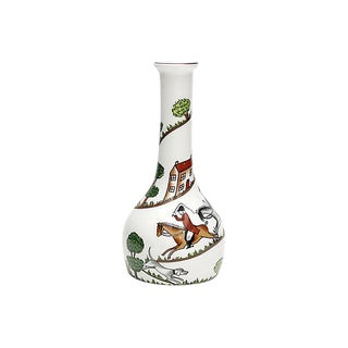 English Hunting Scene Bud Vase For Sale