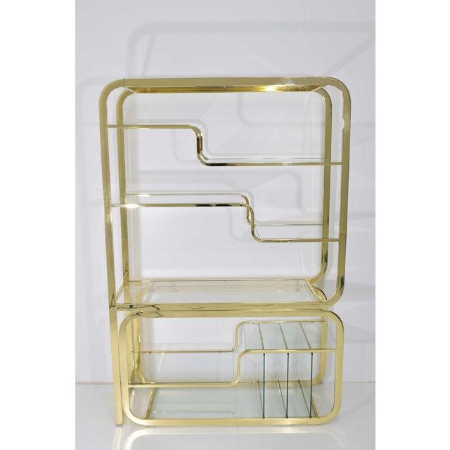 Milo Baughman Brass Finish Étagère For Sale In Dallas - Image 6 of 9