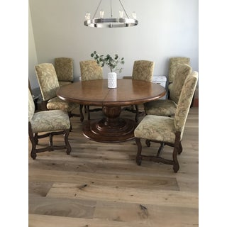 Dining Table Round With Leaf and 8 Chairs Preview