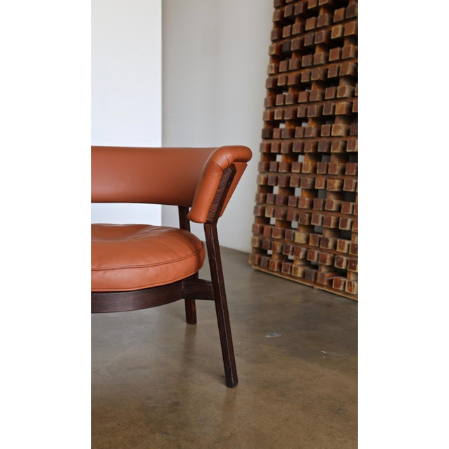 Vintage Mid Century Rare Eugenio Gerli P28 Lounge Chair for Tecno For Sale - Image 9 of 12