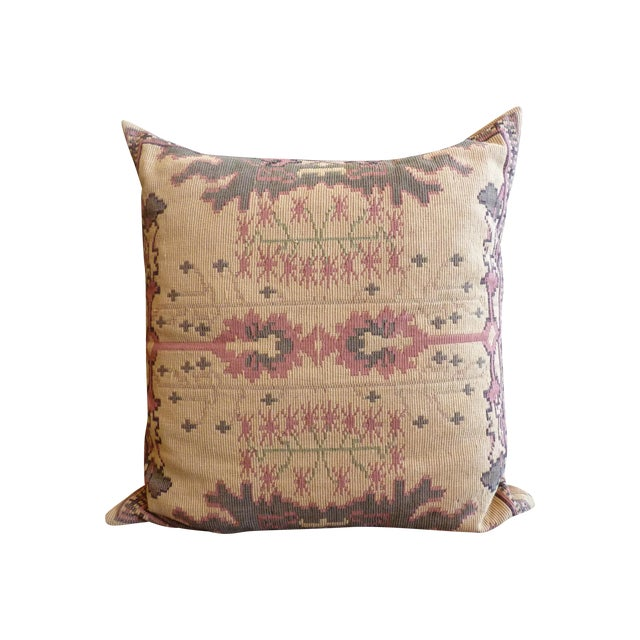 Flat Weave Tapestry Floor Pillow - Image 1 of 5