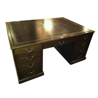 Geogian Style Mahogany Partner's Desk For Sale