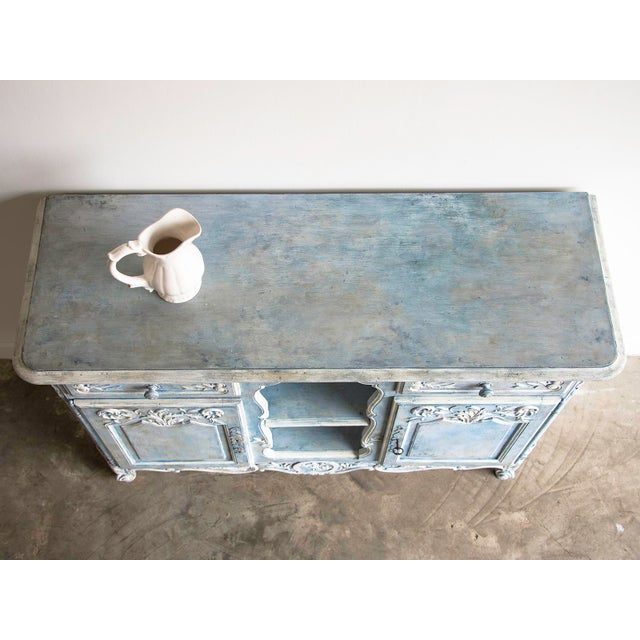 Antique French Louis XV Style Painted Walnut Buffet circa 1900 - Image 7 of 7