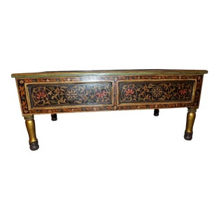 Moroccan Hand Painted Coffee Table For Sale