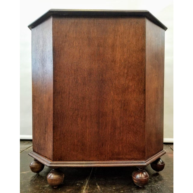 Wood 1920s Art Deco English Oak Drinks Cabinet / End Table / Bookcase by Heal & Son For Sale - Image 7 of 7