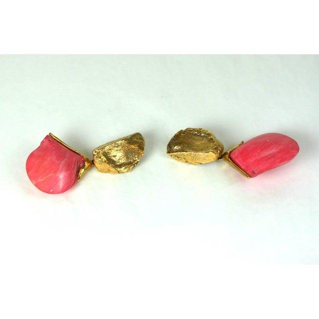 Yves Saint Laurent Yves Saint Laurent Sea Shell Earclips For Sale - Image 4 of 6