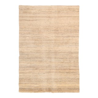 Late 20th Century Visseh Tan Persian Gabbeh Wool Rug - 5′9″ × 7′11″