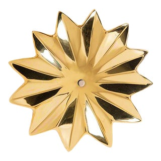 "Addison Weeks Mayan Flower 5.30"" Backplate - Polished Brass For Sale"