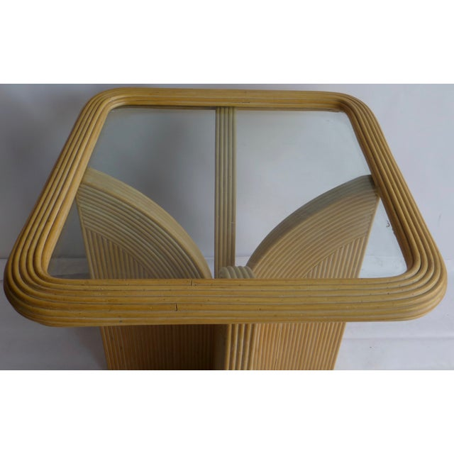 Mid-Century Modern Split Reed Table - Image 4 of 9