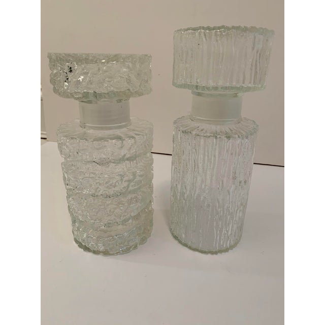 Brutalist Glass Decanters - a Pair For Sale - Image 9 of 11