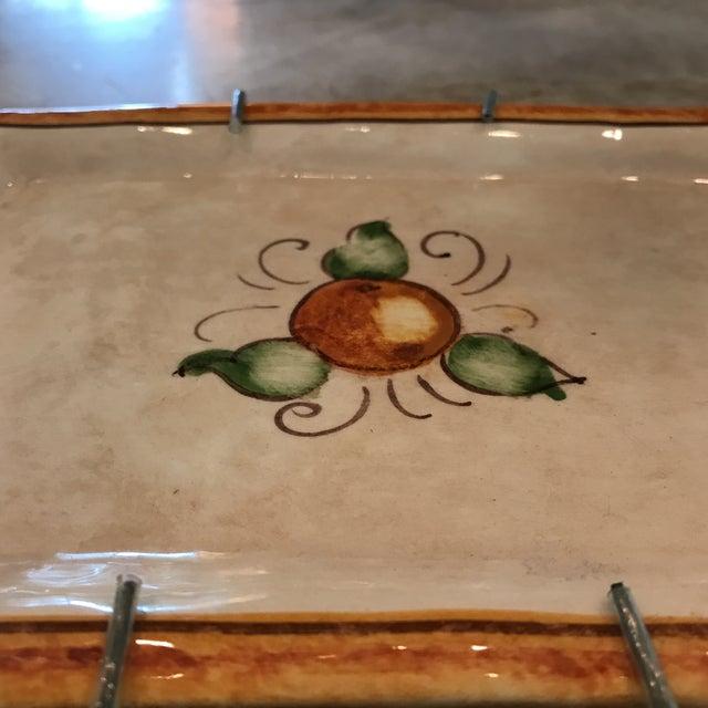 Ceramic Authentic Vietri Fruit Plate For Sale - Image 7 of 8