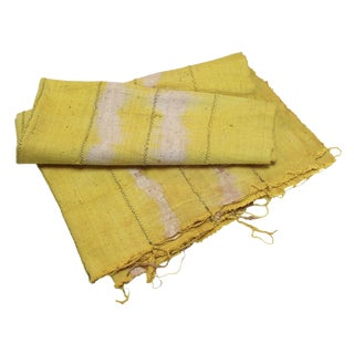 Vintage Yellow Textile For Sale