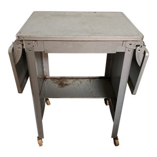 Vintage Metal Typewriter Table For Sale