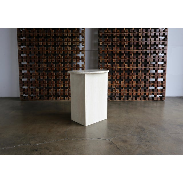 Travertine Pedestal, Circa 1975 For Sale In Los Angeles - Image 6 of 8