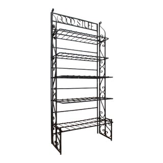 """""""Good Stuff"""" MCM Wrought Iron Etagere For Sale"""