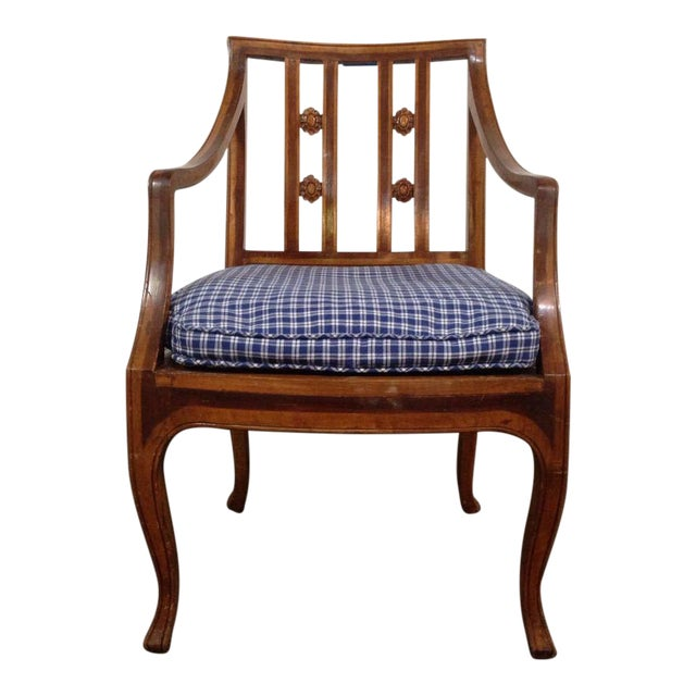 Antique Carved Walnut Armchair - Image 1 of 6