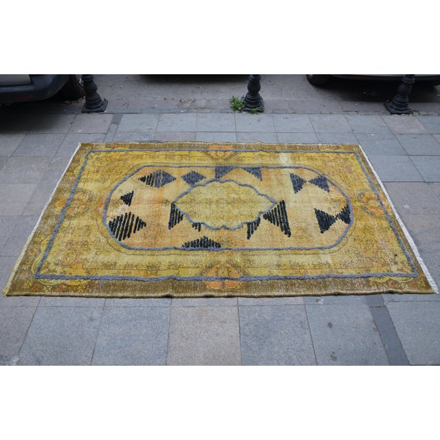 Overdyed Handmade Rug - 5′8″ × 8′10″ For Sale - Image 4 of 6