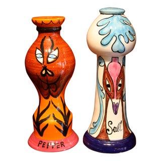 1960s Raymor Ceramic Salt & Pepper Shakers