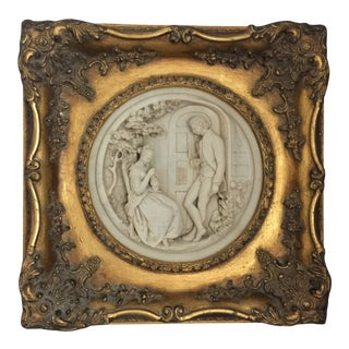 French Louis XV Style Golden Frame Scene For Sale