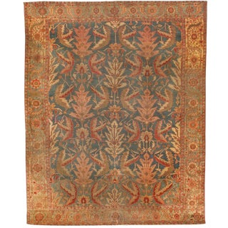 Antique Early 19th Century Persian Serapi Carpet For Sale
