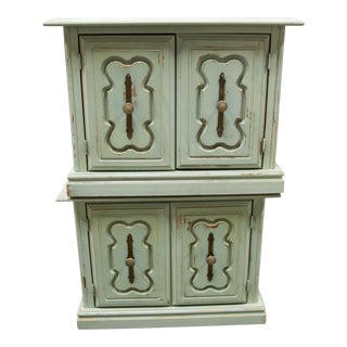 Vintage Sage Green Side Tables - a Pair