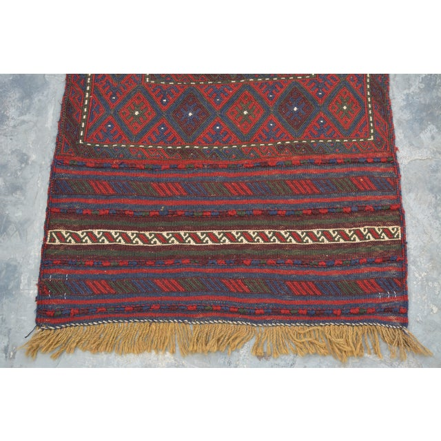 This is an afghan best quality soumak Kilim runner handwoven was in Afghanistan. The rug is in good condition and ready to...