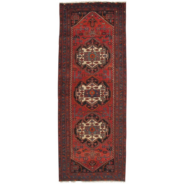 Persian Hand Knotted Runner 3'11 X 10' For Sale