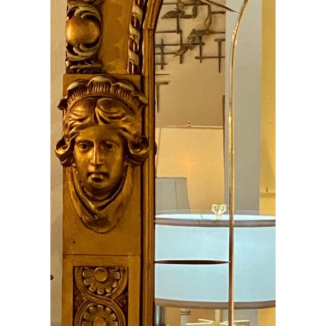 Pair of Neoclassical Wall or Console Mirrors, Giltwood Carved For Sale - Image 4 of 13