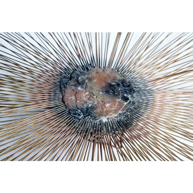 Brutalist Sunburst Wall Sculpture by William and Bruce Friedle For Sale - Image 3 of 5