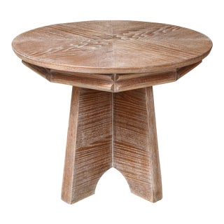 Unusual Italian Cerused Oak Center Table For Sale