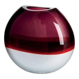 Carlo Moretti Sonne Murano Mouth Blown Glass Vase For Sale
