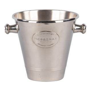 French Silver Metal Ice Bucket for Champagne Besserat, 1970s For Sale