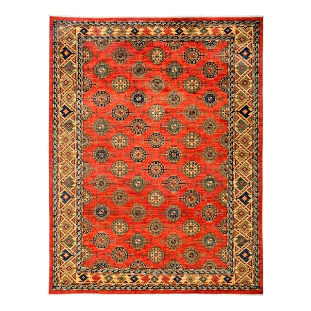 "Contemporary Ersari Hand-Knotted Rug - 8' X 9'10"" - Image 1 of 3"