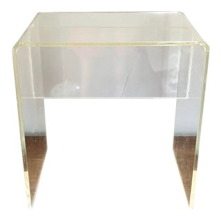 Lucite Waterfall Stool Side Table For Sale