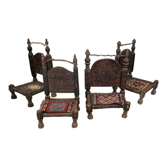 19th Century Tribal Bedouin Chairs - Set of 4 For Sale