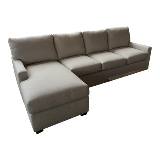 Transitional Almond Upholstered 2-Pc. Sectional