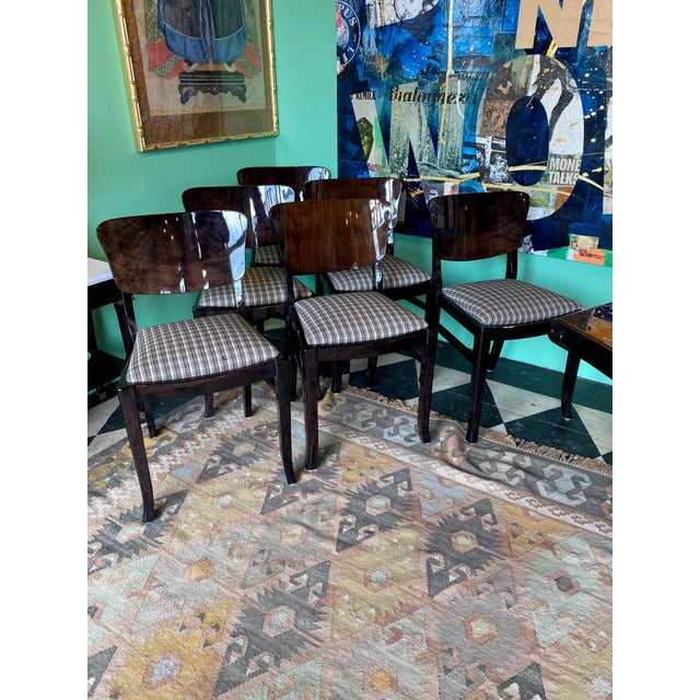 Ebonized 20th Century English Dining Chairs - Set of 6 For Sale In Dallas - Image 6 of 7