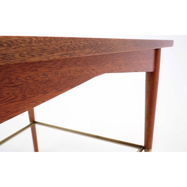 Gold Rare Paul McCobb Trapezoidal Side or End Table For Sale - Image 8 of 10